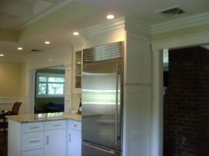 Artistic Contracting - Architectural Millwork - Built-in Appliances with Custom Crown Molding