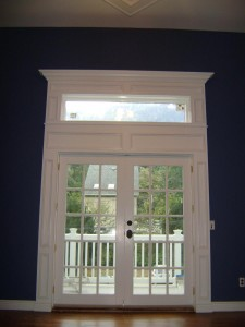 Artistic Contracting - Architectural Millwork - French Doors and Lintel Window