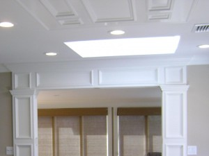 Artistic Contracting - Architectural Millwork - Custom Entry Surround with Cieling Inlay
